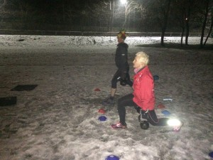 Training session in the snow