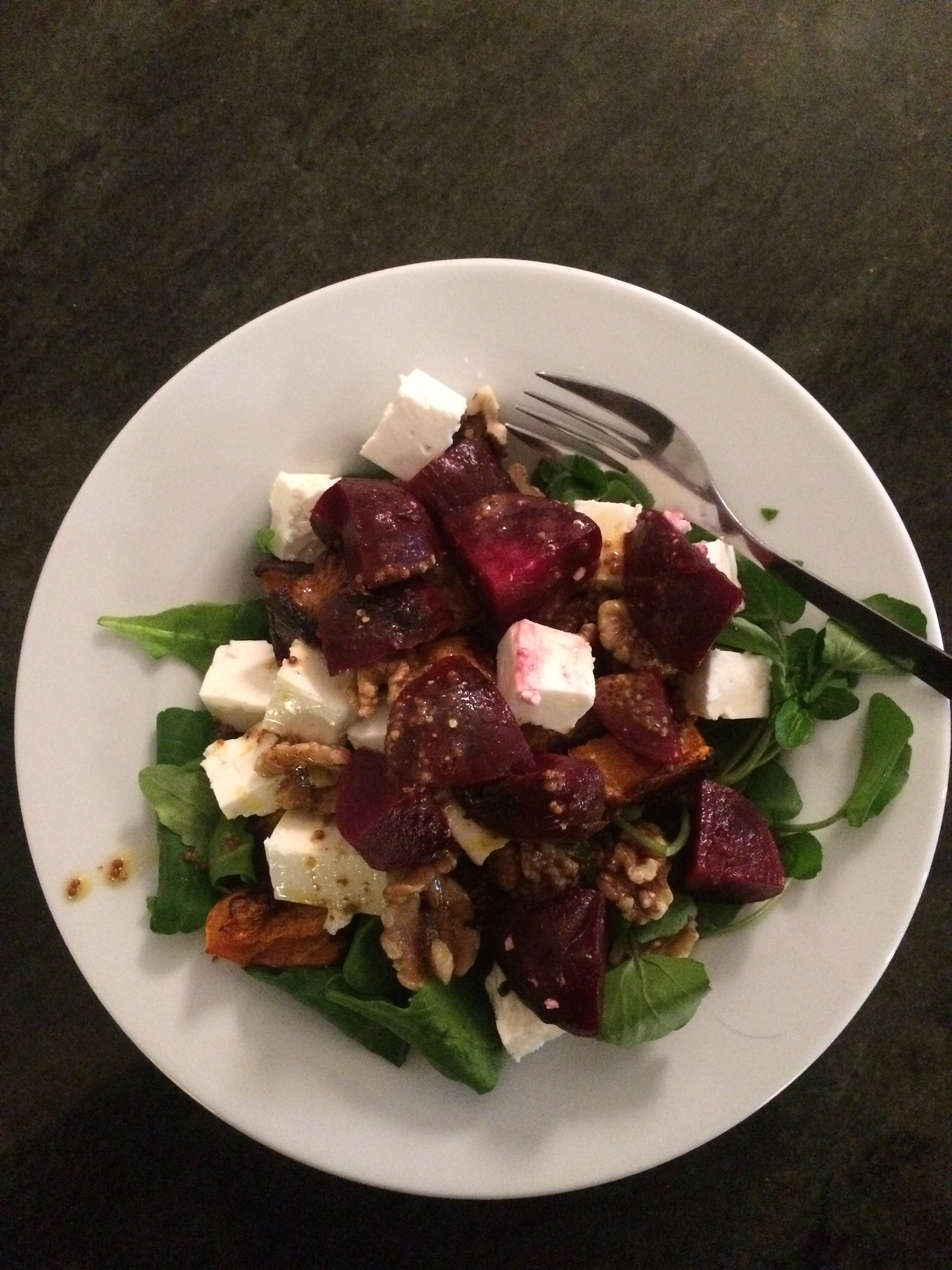 Warm Beetroot, Feta and Squash Salad