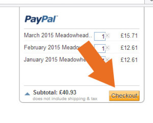 Click the 'Checkout' button to go to the checkout and make the payment