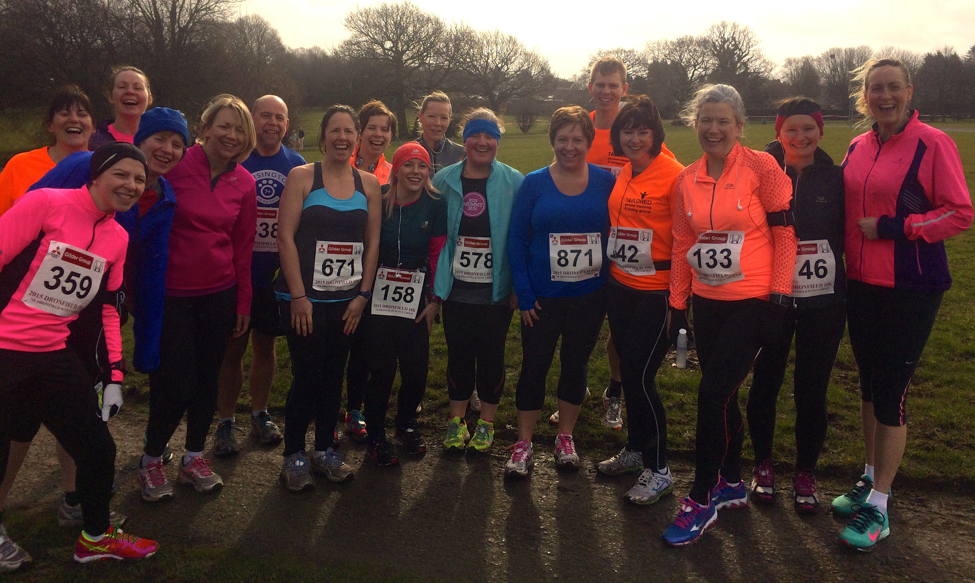 Taylored running group @ the Dronfield 10k 2015