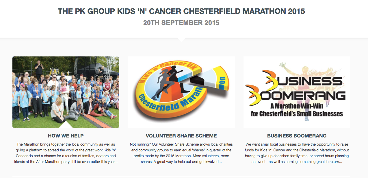 Kids 'n' Cancer Chesterfield Marathon 2015