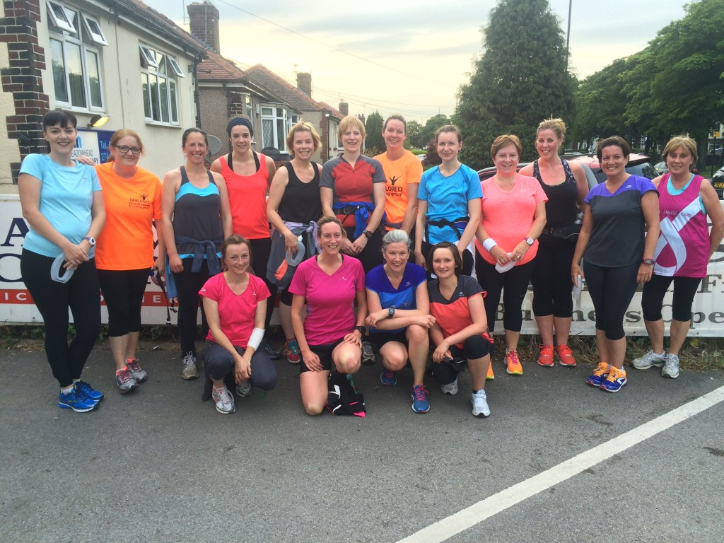 Meadowhead running group meet on Mondays outside Meadowhead Physiotherapy at 7pm