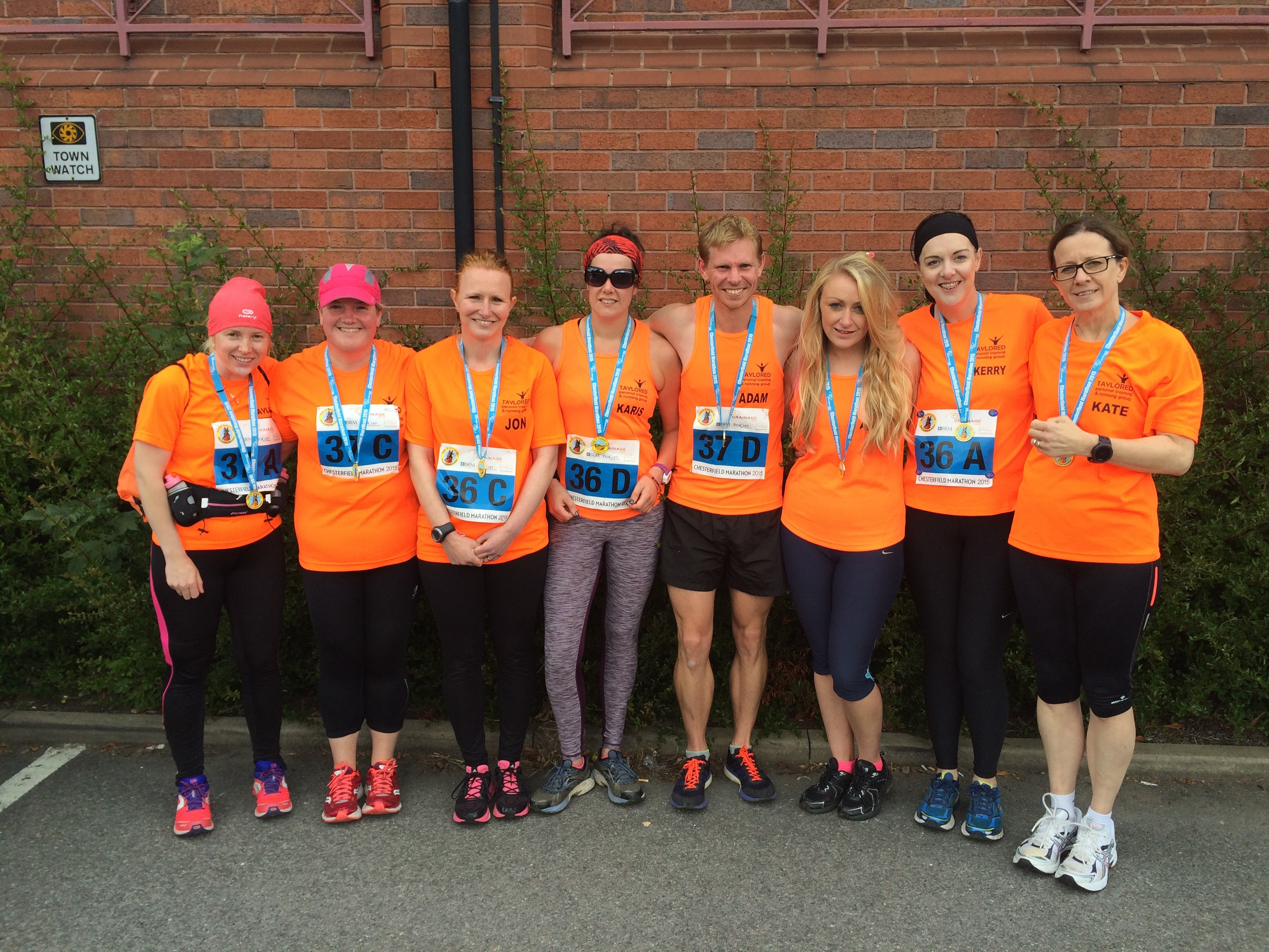 Taylored Running Group at the Chesterfield Marathon Relay 2015