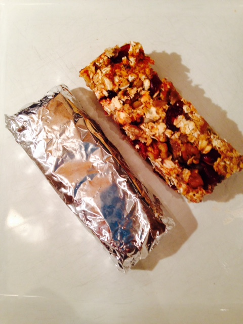 Homemade muesli bar