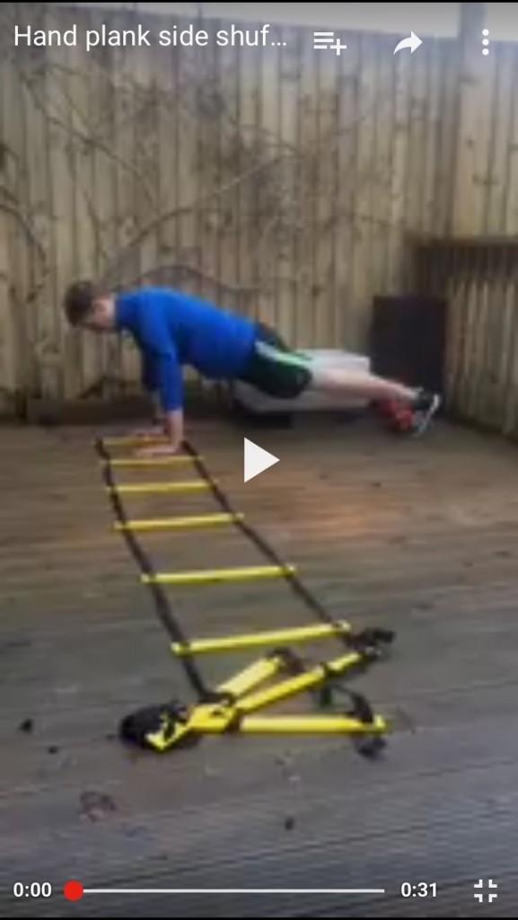 Hand plank shuffle