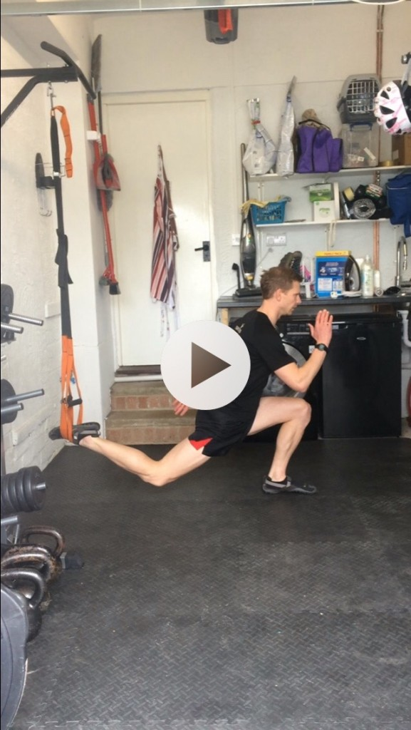 Suspended running lunge