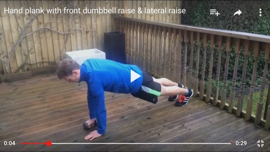 hand planl with fron raise & lateral raise