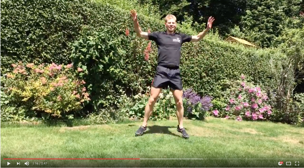 High intensity interval training bodyweight circuit demonstrated by personal trainer Adam Taylor