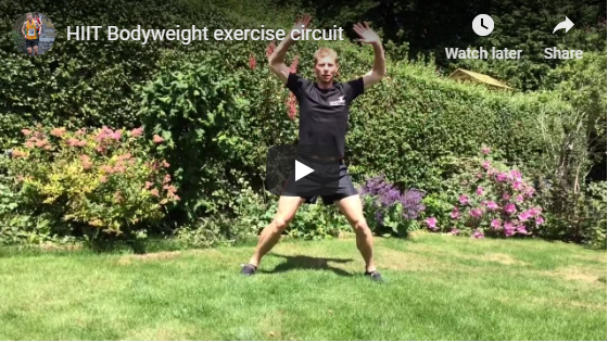 HIIT bodyweight exercise circuit personal trainer Sheffield
