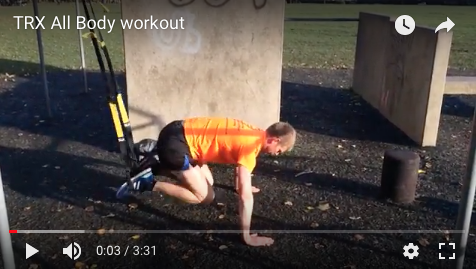 TRX all body workout demonstrated by Adam Taylor personal trainer