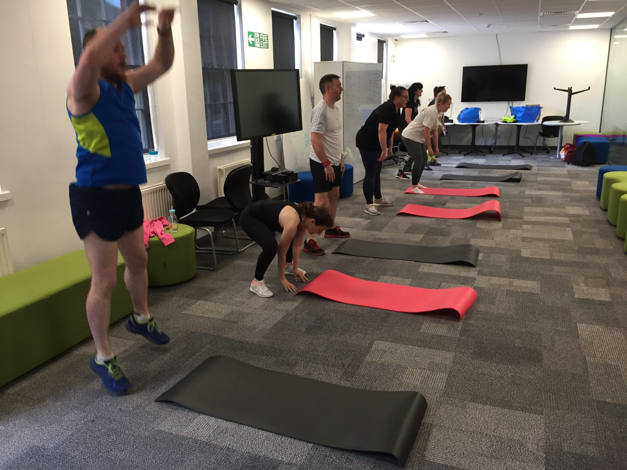 Aviva workplace fitness class pic 3