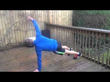 Hand Plank & Side Twists with Reach Through