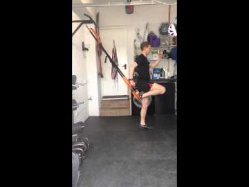 Suspended Running Lunge - (suspension trainer)