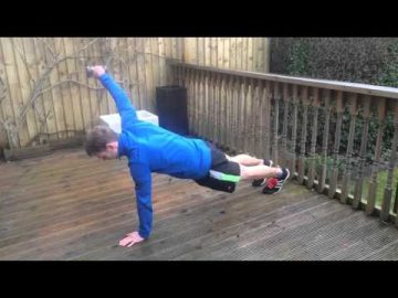 Hand Plank with Front Dumbbell Raise & Lateral Raise