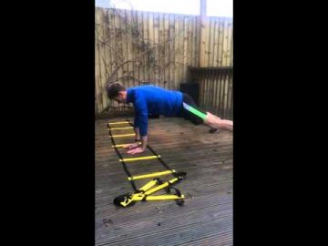 Hand Plank Side Shuffle